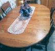 Oak oval dining table set